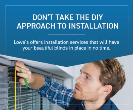 Get professional installation services from Lowes